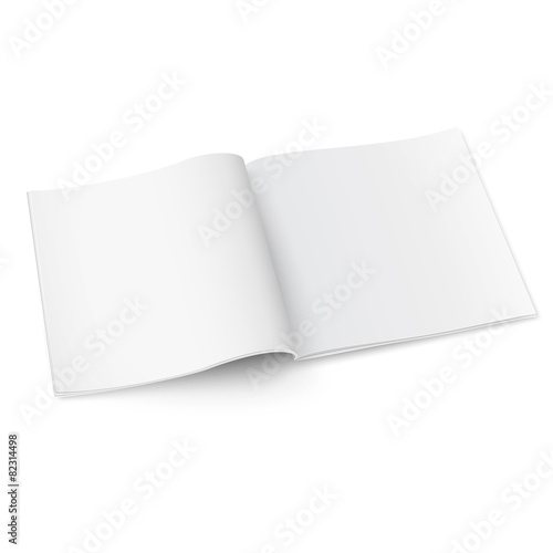 Blank square magazine template with soft shadows. - 82314498