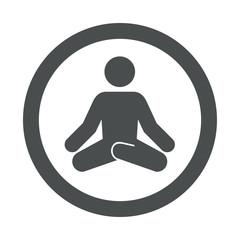 Icono redondo yoga gris