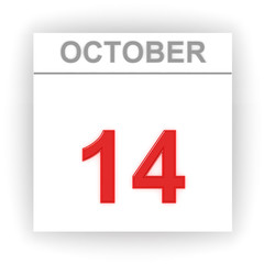 October 14. Day on the calendar.