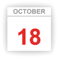 October 18. Day on the calendar.