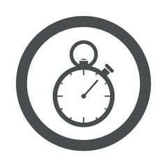 Icono redondo cronómetro gris