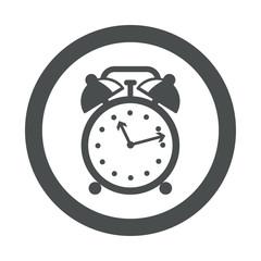 Icono redondo despertador gris