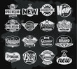Retro chalkboard label design set - 82316693