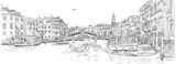 Venice - Grand Canal. View of the Rialto Bridge