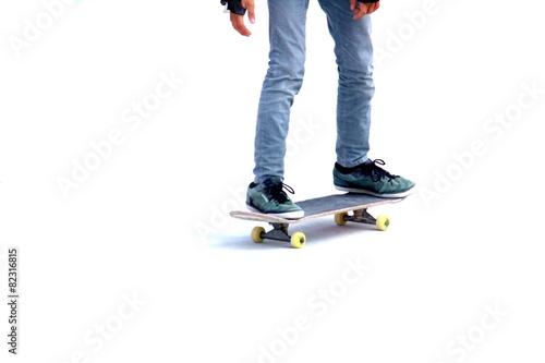 Leinwandbild Motiv Patinando con Skate