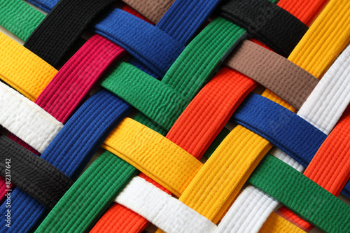 In de dag Stof Martial Arts Belts