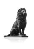 Qasr El-Nile Lion Statue on White