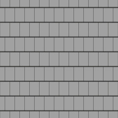 Roof tile, grey - seamless tileable