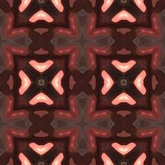 Seamless kaleidoscope texture or pattern in brown spectrum 4