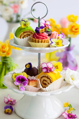 cakes for afternoon tea.