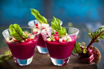Beetroot gazpacho soup