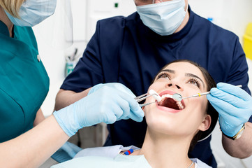 Young woman at dental clinic