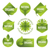 Green Organic Products Labels - 82325263
