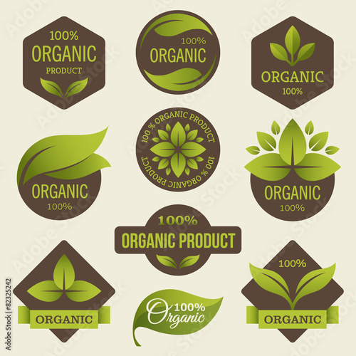 Organic products labels - 82325242