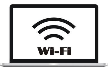 Icon signal online laptop wifi