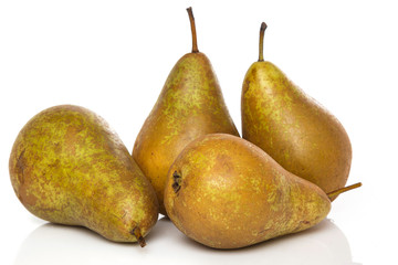 Fresh pears on white background © blackday