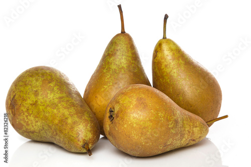 Fresh pears on white background - 82326218