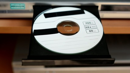 DVD disk - optical drive - insertion DVD to the optical drive