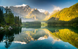 jezioro górskie w Alpach Julijskich,Laghi di Fusine - 82327872