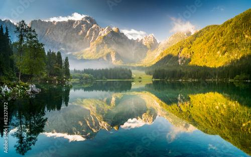 jezioro górskie w Alpach Julijskich,Laghi di Fusine