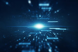 Abstract lens flare space or time travel concept background - 82331238