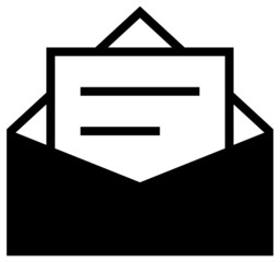 Letter in envelope icon