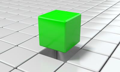 Cubo sollevato