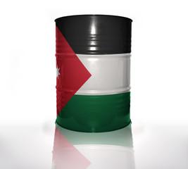 barrel with jordan flag
