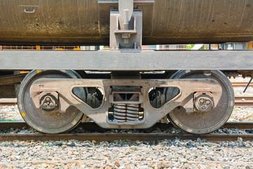 twin wheel of the train