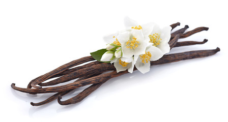 Vanilla pods with jasmine