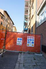 Lavori in Corso, cantiere, rete transenne