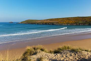 Crantock beach and dunes North Cornwall UK near Newquay