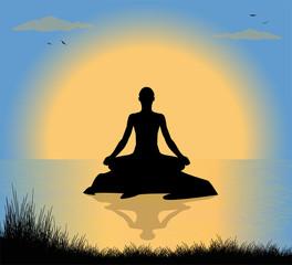 illustrazione di uomo che medita