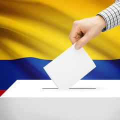 Ballot box with national flag - Colombia