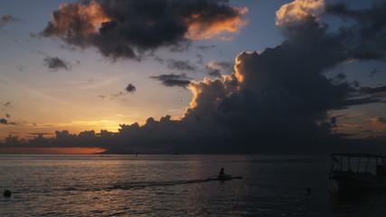 kayaker on the ocean