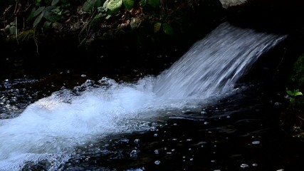 Mountain flowing water