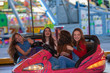 group of kids at funfair or fairground - 82339608