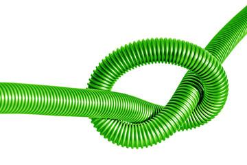 node on the green  plastic tube