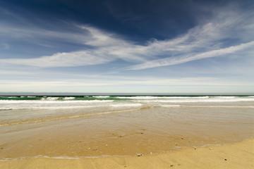 beach in  Coast of death , Razo , Galicia, Spain
