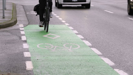 Marked City Center Cycle Lane