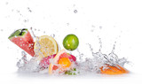 Fototapety Fruit with water splash