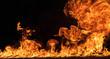 Leinwanddruck Bild - Fire flames background