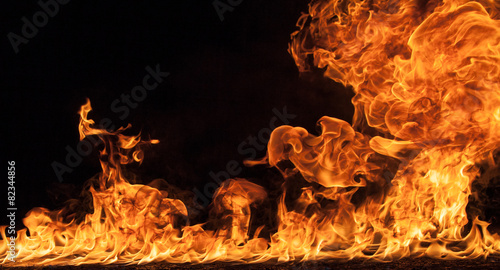 Fire flames background - 82344856