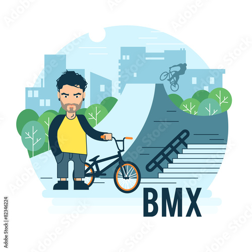 Skate park vector illustration. - 82346224