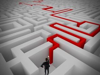 Resolution of labyrinth