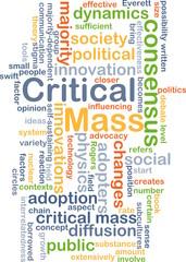 Critical mass background concept