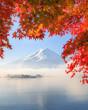 Autumn Season and Mountain Fuji in Japan