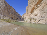 Desert River Entering a Remote Canyon
