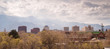 Colorado Springs Downtown City Skyline Dramatic Clouds Storm