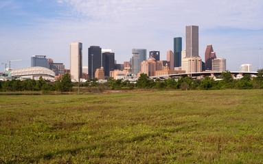 Houston Skyline Southern Texas Big City Downtown Metropolis